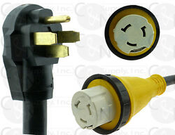 RV Power Cord 36ft 50amp Detachable Cable Locking Connector fits Hubbell Marinco