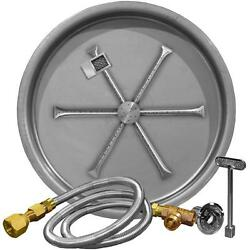 Firegear 25-inch Round Burning Spur Propane Gas Fire Pit Burner Kit -