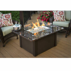 The Outdoor GreatRoom Co Grandstone Crystal Fire Pit Table w Napa Valley Base