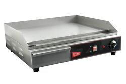 GMCW EL1624 Commercial 24quot; Electric Griddle Counter Top Flat Grill