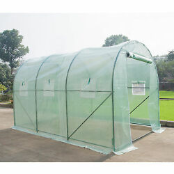 Heavy Duty  Walk In Plastic Tunnel Green House Cover Kit Plant Garden 12'X7'X7'