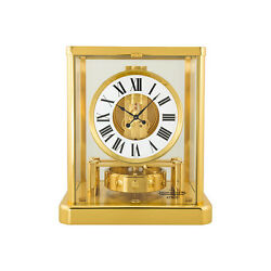 Jaeger LeCoultre Atmos Classique White Dial Yellow Gold Coated Gilt Brass Desk