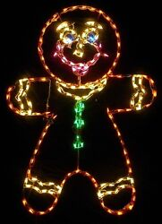 Christmas Gingerbread Boy Holiday Outdoor LED Lighted Decoration Steel Wireframe