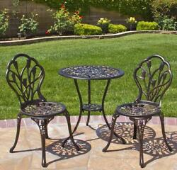 Bistro Table And Chairs Cast Aluminum Patio Furniture Best Sets On Sale Garden