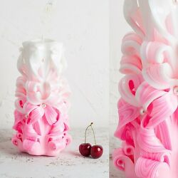 Handmade Carved Candle Wedding Centerpiece Decorative Party Passion EveCandles $64.00