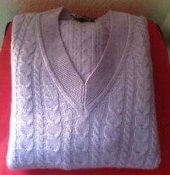 TOM FORD MENS $1895 LILAC 100% CASHMERE VNECK SWEATER SZ. 56 NWTAG ITALY 🇮🇹