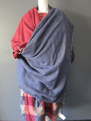 DANIELA GREGIS long wool & lino wrap  shawl NEW with TAG 104 inches x 41 inches
