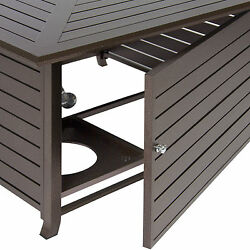 Best Choice Products Extruded Aluminum Gas Outdoor Fire Pit Table With Cover