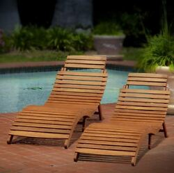Chaise Lounge Chairs 2 Pc Patio Outdoor Pool Furniture Resistant Wicker Folding