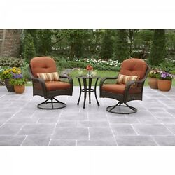 Wicker Patio Bistro Set 3-Piece Outdoor Garden SeatS Table Chair Sturdy Yard Out