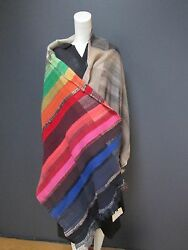 DANIELA GREGIS 100 % cashmere long shawl NEW with TAG   A MASTERPIECE 79'x 29'