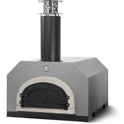Chicago Brick Oven Cbo-750 Countertop Outdoor Wood Fired Pizza Oven - Silver