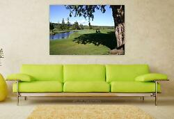 Stunning Poster Wall Art Decor Golf Nature Outdoors Course Grass 36x24 Inches