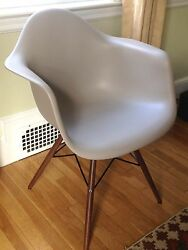 REDUCED Eames Molded Plastic Dowel-leg Armchairs (from DWR)