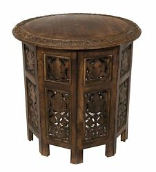 Wood Coffee Accent Antique Table Solid Wooden Living Room Vintage Side Furniture $107.99
