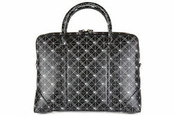GIVENCHY BRIEFCASE ATTACHÉ CASE LAPTOP PC BAG LEATHER NEW BLACK 62B