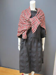 DANIELA GREGIS wool & linen wrap  shawl NEW with TAG 55 inches x 61 inches