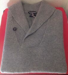 TOM FORD MENS $1430 LIGHT GRAY 100% CASHMERE SWEATER SZ.52 NWTAG ITALY ����