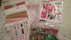 LOT OF SEWING SUPPLIES CRAFTS ZIPPERS BUTTONS SEQUENCE HEAT BOND