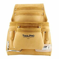 ToolPro Top Grain Leather Tool and Nail Pouch