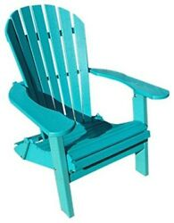 Phat Tommy Recycled Poly Resin Folding Deluxe Adirondack Chair - Durable and