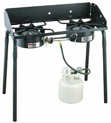 Outdoor Camping Stove Modular Cooking Grills Portable Fuel BBQ Propane 2 Burner