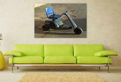 Stunning Poster Wall Art Decor Golf Buggy One Golf Buggy Outdoors 36x24 Inches