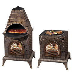 Outdoor Pizza Fireplace Oven Chiminia Wood Burning BBQ Fire Pit Firepit Patio