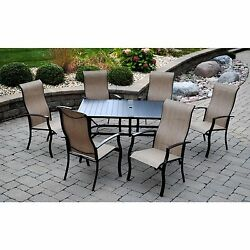 NEW 7pc Outdoor Sling Chair Dining Table Patio Furniture Set