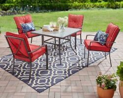 Garden Furniture Table And Chairs Patio Cushions Best Dining Set For 4 Red Deck
