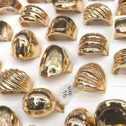 Creative Unique Design Gold Plated Ring For Young Men And Rocker Mix Style 50pcs
