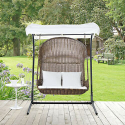 THE MODENZO Vantage Outdoor Patio Swing Chair Steel Frame Furniture Home Decor