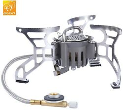 Outdoor Gas Stove Camping Foldable Aluminum Picnic Hiking Cooking Burner Stoves