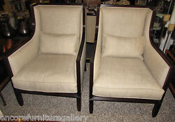 1492-101: Pair of 2 High End JOHN BOONE Contemporary Wing Chairs