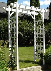Providence Arbor Trellis White PVC Vinyl Will Not Crack Fade Peel or Discolor