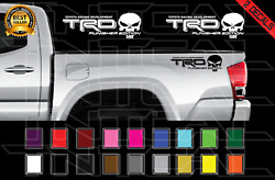 TRD PUNISHER EDITION Decals Toyota Tacoma Tundra Truck Vinyl Stickers X2 $11.39