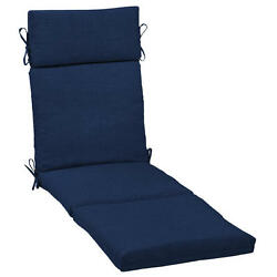 Patio Chaise Lounge Cushion Replacement Pad Blue for Outdoor Furniture Pool Yard