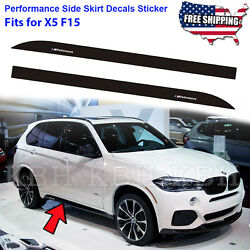 M Performance Side Skirt Sports Decal Stripe Sticker fits for BMW X5 F15 F85 SUV