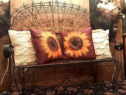 Vintage Mid Century Wrought Iron Patio Outdoor Set 2 chairs loveseat Shell Back