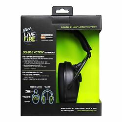 Mack's Live Wire Double Action Electronic Shooting Earmuffs Black