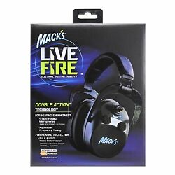Mack's Live Wire Double Action Electronic Shooting Earmuffs CAMO