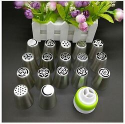 Russian Tulip Flower Icing Piping Nozzles Cake Coupler Decoration Baking Tools