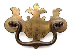 Antique Hardware Batwing Vintage Brass Chippendale Drawer Pull 3 12