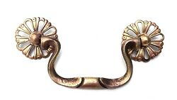 French Provincial Chippendale Antique Hardware Brass Drawer Pull 3 12