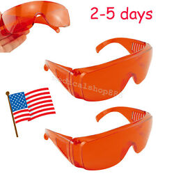 2x US Goggle Glasses Protective Eye Lab Safety For Dental Curing Light Whitening $8.93