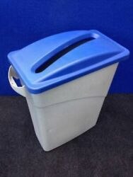 Office Commercial Recycling bin Rubbermaid 30 Ltr. Slim paper recycle lid