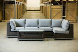 NEW! Modular Sectional Set All Weather Wicker Patio Furniture Sunbrella Cushions