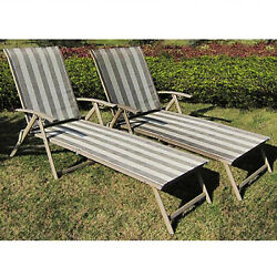 Outdoor Chaise Folding Lounge Chair Patio Pool Beach Bed Adjustable Furniture Su