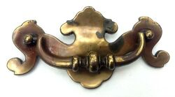 Brass Chippendale Antique Drawer Pull Hardware Batwing Vintage Handle 3