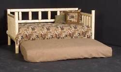 Rustic Log Day Bed w Trundle [ID 956212]